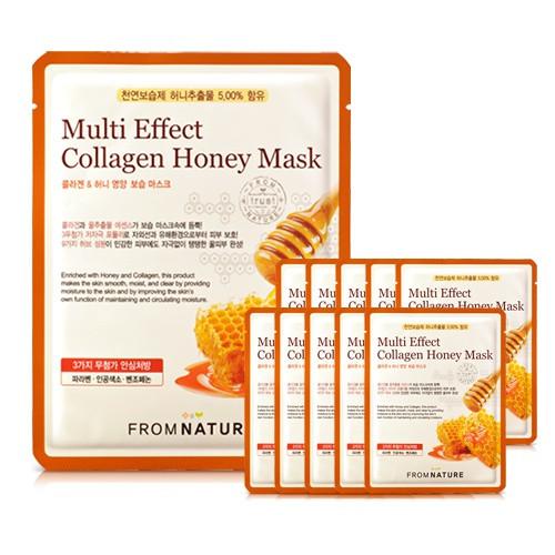 蜂蜜膠原蛋白營養彈力面膜 10片